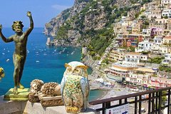 Full day shore excursion from Naples to Positano and Vesuvius with private driver and guide