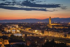 Florence Palazzo Vecchio and Arnolfo Tower Sunset Tour with Dinner or Aperitivo