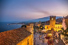 Taormina Sunset Walking Tour with Aperitif on Roof-Top Terrace
