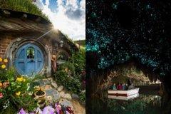 Imagen Hobbiton Movie Set and Waitomo Glowworm Caves Day Trip from Auckland