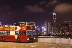 Imagen Tour notturno di Hong Kong su bus scoperto
