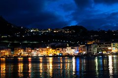 Capri by Night from Sorrento