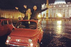 Fiat 500 Night tour of Rome