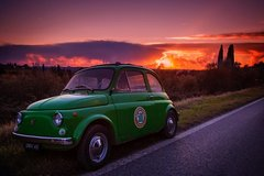 Self-Drive Vintage Fiat 500 Tour from Florence: Sunset Tuscan Villa and Aperitivo