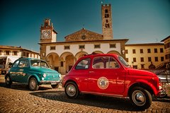 Self-Drive Vintage Fiat 500 Tour from Florence: Tuscan Villa and Gourmet Lu