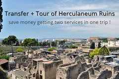 Private transfer from Naples to Sorrento with tour of Herculaneum Ruins