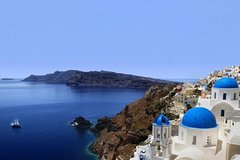 Visita y paseo panorámico de Santorini Medio Día