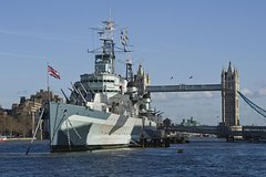 Go on-board HMS Belfast & See over 20 top London Sights tour (Kids nearly free)