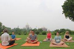 1-Hour Yoga Session Facing Taj Mahal including Hotel Transfer