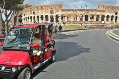 Best of Rome full day sightseeing tour by golf-cart with a delicious lunch break
