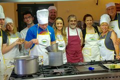 Small group Tuscan cooking class in a castle with optional transfer from Fl