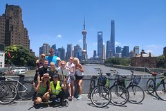 Huangpu River Ferry and Shanghai Top Attractions Bike Tour with Local Lunch