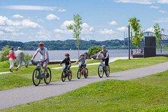 Excursión en bicicleta por la ciudad de Quebec a lo largo del río Saint Lawrence