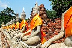 Ayutthaya Ancient Capital Tour from Bangkok with Grand Pearl River Cruise