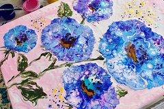 Real Flower Painting Workshop