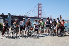 Guided Bicycle Tour: Golden Gate Bridge Twilight Tour