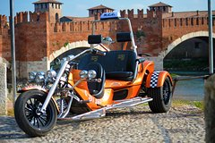 Private Transfers and Sightseeing by Trike in Verona (1 traveler + 1 person