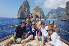 Private boat tour to Capri from Sorrento on 38 feet Apreamare