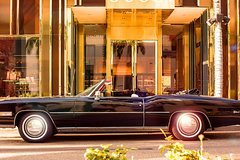 Classic car tour of Los Angeles in a beautiful 1976 Cadillac Eldorado