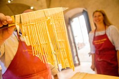 Tuscan Castle and Cellars Small Group Tour with Pasta Making Class +Wine Ta