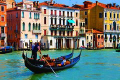 CHARMING GONDOLA AND CLASSIC MUSIC