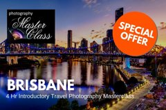 Brisbane - 4 Hr Introductory Travel & Photography Masterclass