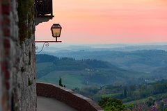 San Gimignano at Sunset with Chianti Wine Dinner in Barrique Cellar Small Group