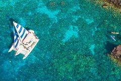 Hawaii County HI Deluxe Sail & Snorkel Captain Cook Monument at Kealakekua Bay 72709P4