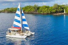 Hawaii County HI Afternoon Sail & Snorkel Captain Cook Monument at Kealakekua Bay 72709P5