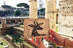 Mosaic-Making Class within Roman Forum