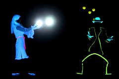 Espectáculo de teatro con luz negra Phantom en Praga
