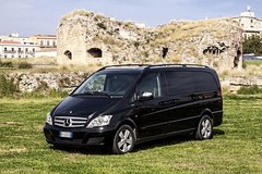 From Airport Palermo to Cefalù by Private Transfer minivan