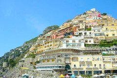 Transfer from Positano to Naples with stop at Pompeii