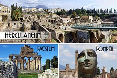 Pompeii, Herculaneum and Paestum Private Day Tour from Rome
