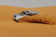Abu Dhabi Desert Safari with Quad Bike Camel Ride Bbq Dinner and Sand Boarding