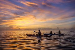 Sea Kayaking at Qingshui Cliff Hualien(Sunrise 03:30am)including pick up service