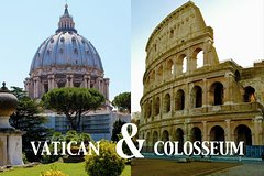 Rome All-in-One: Vatican Museums and Colosseum Private Tour-Transfers inclu
