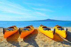 Imagen Day sea kayak tour Rangitoto Island