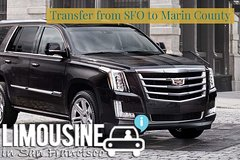 Private Airport SUV VIP Transfer from or to SFO to Marin County