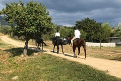 Sunset Horse Ride and Tuscany dinner with the locals