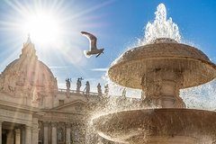 Hop On - Hop Off Bus 24 or 48 Hour Pass & Vatican Museum Small Group to