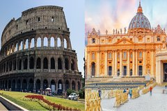 1 Day Skip-The-Line Morning Colosseum & Afternoon Vatican Small Group T