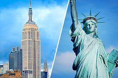 Full-Day NYC Tour Empire State and Statue of Liberty ticket in Open Top Sprinter