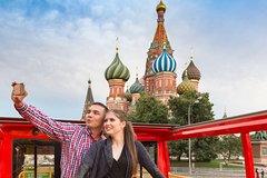 Ver la ciudad,Hop-On Hop-Off,Tour por Moscú,Autobús turístico