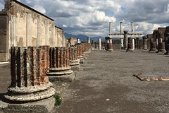 From Naples or Sorrento Pompeii tour Guide and lunch in a winery on Mt Vesu