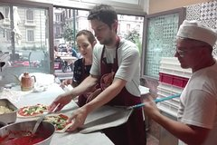 Pizza class in Sorrento with the chef