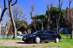 Transfer Rome - Fiumicino only new Mercedes E, Vito, class V, S, Russian driver