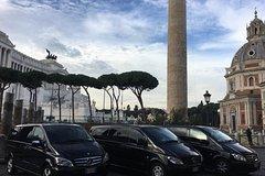 Transfer Civitavecchia-Rome ship board pickup + Mercedes 2019 + Russian language driver