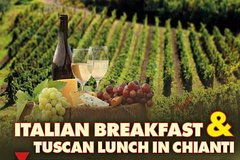 Semi Private Tour: TUSCAN LUNCH IN CHIANTI & ITALIAN BREAKFAST