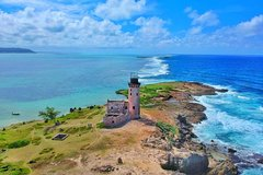 Visit of Ile aux cerfs, Grse Waterfall, Lighthouse island, snorkeling and lunch